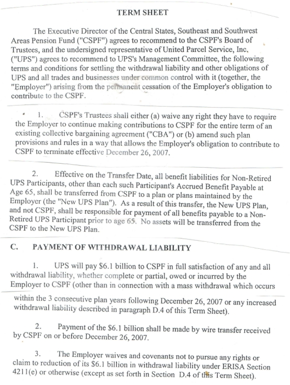 Fo central states 3 ups withdrawal 2007 burypensions blog increase the funding ratio of central states and permit us to improve pension benefits for ups employees during the term of the next contract platinumwayz